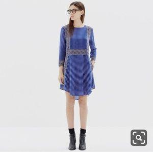 Madewell Ascot Grid Silk Tee Dress